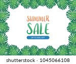 summer background banner with... | Shutterstock .eps vector #1045066108