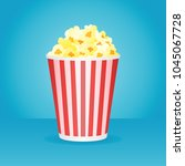 illustration of popcorn box... | Shutterstock . vector #1045067728