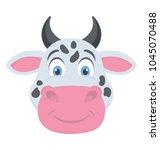 a cute livestock animal cartoon ... | Shutterstock .eps vector #1045070488