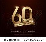 60th years anniversary... | Shutterstock .eps vector #1045073176