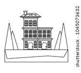 residential houses design | Shutterstock .eps vector #1045073632