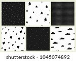 set of hand drawn vector... | Shutterstock .eps vector #1045074892