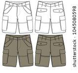 shorts vector for design | Shutterstock .eps vector #1045080598