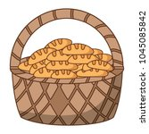 basket with breads icon | Shutterstock .eps vector #1045085842