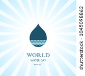 water drop with water waves... | Shutterstock .eps vector #1045098862