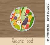 organic food. healthy eating.... | Shutterstock .eps vector #1045101292