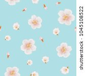 sakura painting pattern. | Shutterstock . vector #1045108522