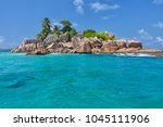 beautiful tropical st. pierre...   Shutterstock . vector #1045111906
