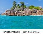 beautiful tropical st. pierre...   Shutterstock . vector #1045111912