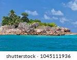 beautiful tropical st. pierre...   Shutterstock . vector #1045111936