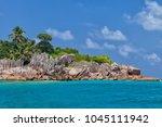beautiful tropical st. pierre...   Shutterstock . vector #1045111942