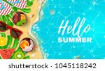 beautiful banner with... | Shutterstock .eps vector #1045118242
