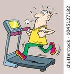man running  fitness. healthy... | Shutterstock .eps vector #1045127182