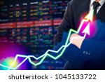 stock market digital graph... | Shutterstock . vector #1045133722