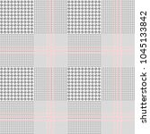 seamless glen plaid pattern in... | Shutterstock . vector #1045133842