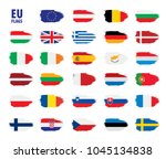 flags of the european union | Shutterstock .eps vector #1045134838