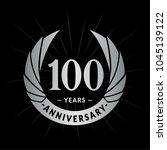 100 years anniversary. elegant... | Shutterstock .eps vector #1045139122