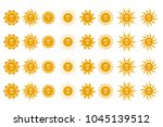 set of spf protection icons ... | Shutterstock .eps vector #1045139512