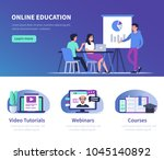 online education  and business ... | Shutterstock .eps vector #1045140892