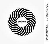 black abstract vector circle...   Shutterstock .eps vector #1045148722
