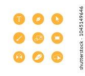 illustrator toolbar icon set on ... | Shutterstock .eps vector #1045149646