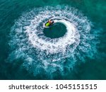 people are playing jet ski at... | Shutterstock . vector #1045151515