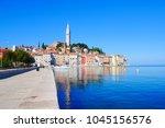 rovinj rovigno is a city in...   Shutterstock . vector #1045156576