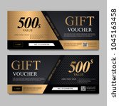 voucher template with black and ... | Shutterstock .eps vector #1045163458