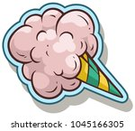 cartoon colorful cotton candy... | Shutterstock .eps vector #1045166305