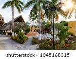 the small  old mayan village el ... | Shutterstock . vector #1045168315