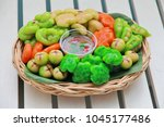 popular thai dessert in... | Shutterstock . vector #1045177486