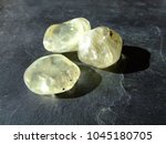 orthoclase tumbled pebbles on... | Shutterstock . vector #1045180705