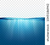 water wave surface on a... | Shutterstock .eps vector #1045186942