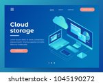 concepts cloud storage. header... | Shutterstock .eps vector #1045190272