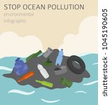 global environmental problems.... | Shutterstock .eps vector #1045190605