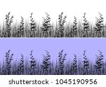 line seamless landscape with...   Shutterstock . vector #1045190956