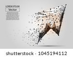 abstract mash line and point... | Shutterstock .eps vector #1045194112