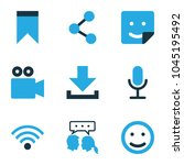 social icons colored set with... | Shutterstock .eps vector #1045195492
