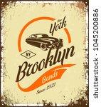vintage gangster vehicle vector ... | Shutterstock .eps vector #1045200886