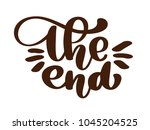 handdrawing the end vector text ...   Shutterstock .eps vector #1045204525