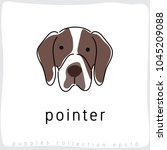 pointer   dog breed collection  ... | Shutterstock .eps vector #1045209088