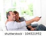 senior couple watching... | Shutterstock . vector #104521952
