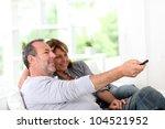 senior couple watching... | Shutterstock . vector #104521952