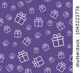 gift boxes seamless pattern.... | Shutterstock . vector #1045223776