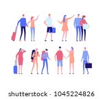 vacation   flat design style... | Shutterstock .eps vector #1045224826