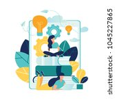 vector illustration people... | Shutterstock .eps vector #1045227865