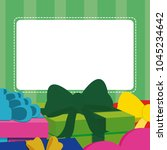 blank note card with gift boxes | Shutterstock .eps vector #1045234642