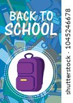 back to school and supplies | Shutterstock .eps vector #1045246678