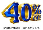 40  off   forty percent off... | Shutterstock .eps vector #1045247476
