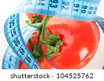 tomato with measurement... | Shutterstock . vector #104525762